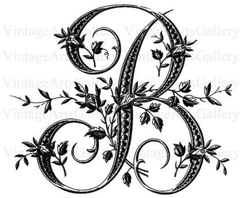 antique french floral alphabet large letter  vintageartsgallery  etsy monogram