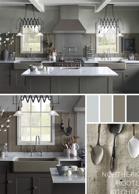 Sophisticated, timeless hues make this rustic farmhouse