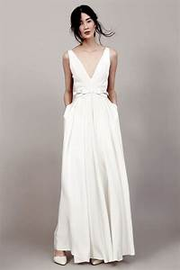 30 effortlessly chic wedding dresses with pockets With plain white wedding dresses