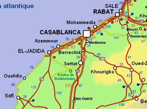 Carte Maroc Avec Villes by Carte Routi 232 Re D 233 Taill 233 E Du Maroc Avec Kilom 233 Trage 2011