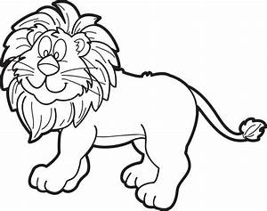 Free, Printable Cartoon Male Lion Coloring Page for Kids