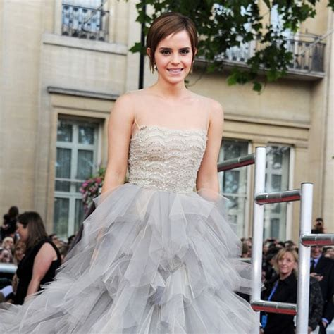 Emma Watson Wears Oscar Renta The London Premiere