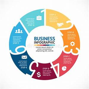 Vector Circle Arrows Numbers Infographic  Diagram  Graph  Presentation  Chart  Business Cycle