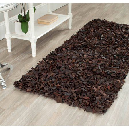 safavieh leather rug safavieh knotted leather shag area rug walmart