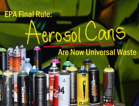 epa finalizes aerosol  universal waste regulation