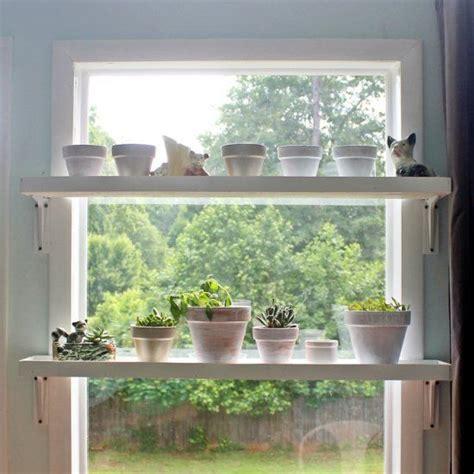 Plants On Windows by Diy Window Plant Shelf Dont Be Lazy Diy Window