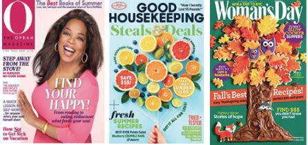 she magazine subscription magazine subscriptions 12 months for 3 99 woman s day oprah good housekeeping more