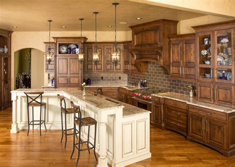 rustic kitchen island cabinet stain colors kitchen traditional with canister set