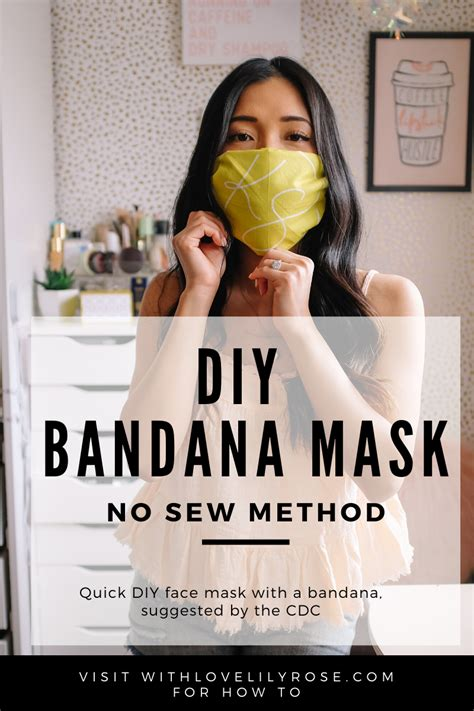 diy face mask   bandana  sew method  cdcs