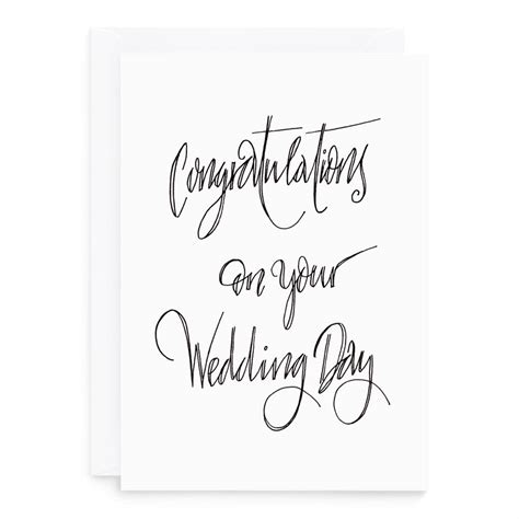 congratulations wedding card  de fraine design london