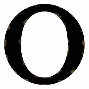 Distressed Black Letter O, 12-in - At Home At Home