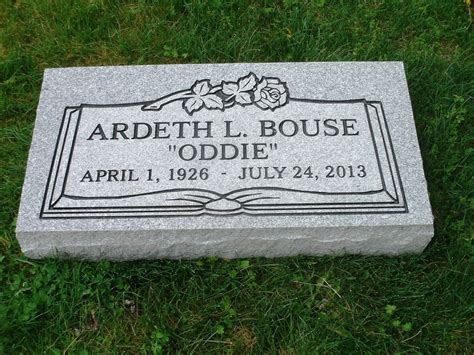 granite headstone grave marker gray engraving