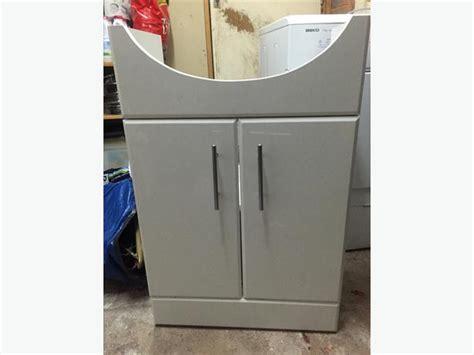 White Gloss Under Sink Bathroom Cupboard Cabinet Unit