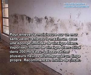 Tache De Javel : l 39 astuce g niale pour enlever la moisissure des murs sans javel ~ Voncanada.com Idées de Décoration