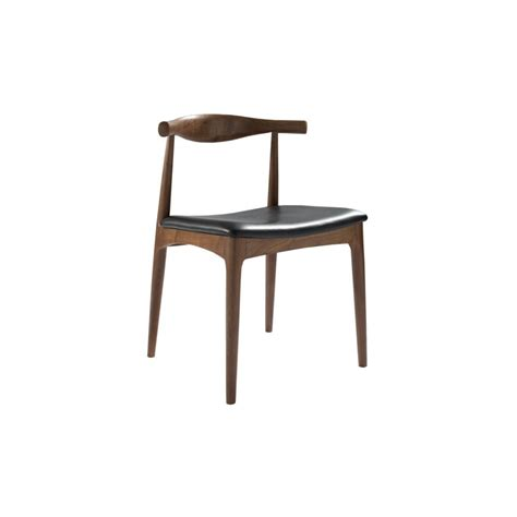 hans j wegner style chair brown with black seat