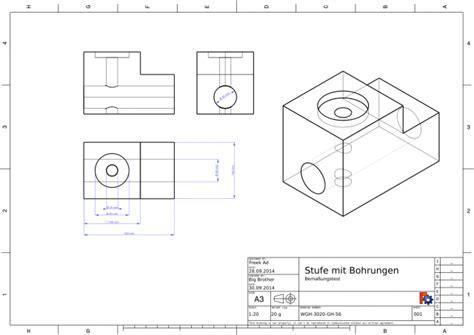 technische zeichnung ansichten freek erstellt eine technische zeichnung freecad buch
