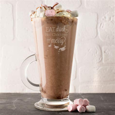 engraved glass hot chocolate mug eat drink