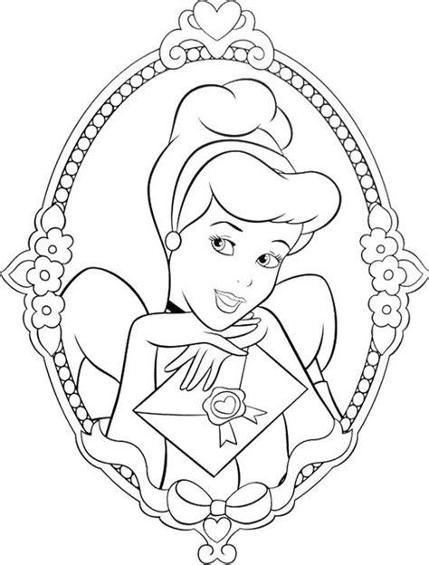 Beautiful Princess Cinderella Coloring Page | Cinderella