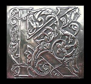 50 best embossing designs images on pinterest metal With metal embossing letters
