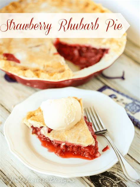 Best Rhubarb Recipes by Best Strawberry Rhubarb Pie Recipe