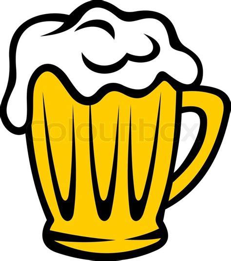 goldene kanne bier mit einem vektorgrafik colourbox