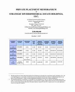 private placement memorandum 10 free pdf documents With real estate offering memorandum template