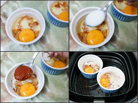 fryer air recipes airfryer philips bacon eggs recipe baked food breakfast frying brunch cooking delicious resepi singapore using whipping tomato