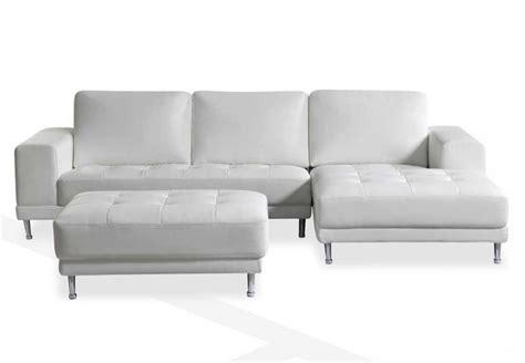 Leder Ecksofa Weiss by White Leather Sofa