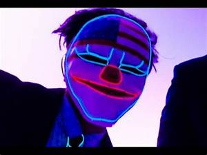 Light Up Neon Partyotic Clown LED EL Wire Mask TURN NEON