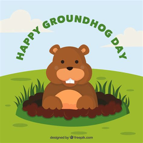 Groundhog Day Clipart Groundhog Vectors Photos And Psd Files Free