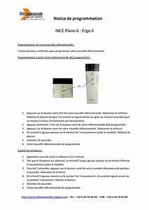 Programmation Telecommande Nice Volet Roulant : calam o notice de programmation t l commande nice ergo6 ~ Mglfilm.com Idées de Décoration