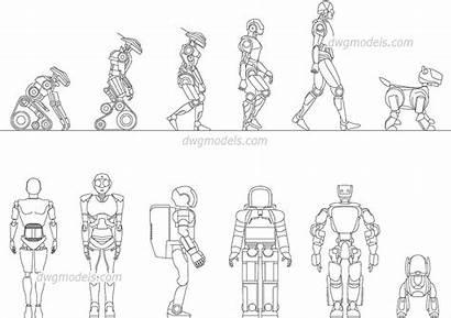 Autocad 2d Robots Drawings Cad Blocks Dwg