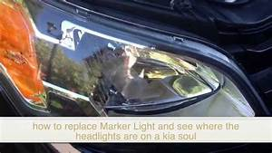 How To Change  Replace Bulb Marker Light In Kia Soul And