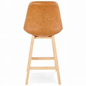 Tabouret Mi Hauteur : tabouret de bar chaise de bar mi hauteur design daivy mini marron clair ~ Teatrodelosmanantiales.com Idées de Décoration