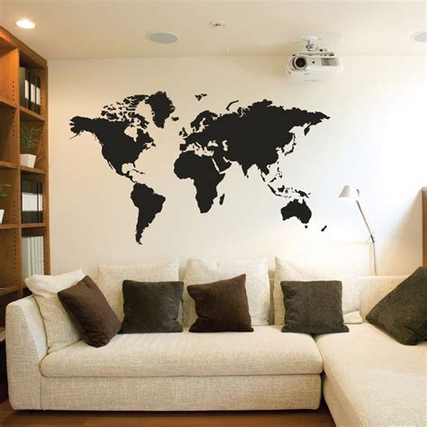 home wall decor stickers creative home world map vinyl wall stickers living room