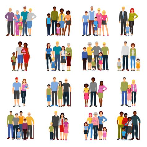 members icons groups vector flat illustration cartoon icon cute vectors graphics clipart most pic relationship system