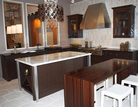 Movable Kitchen Islands With Seating by Waterfall Countertops Butcherblocks Bar Tops Blog