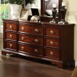 Dark Cherry Wood Dresser by Carlsbad English Style Dark Cherry Finish Bedroom Dresser