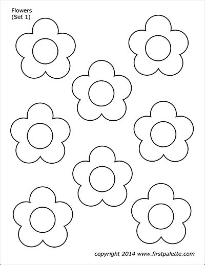flower nature printables  printable templates