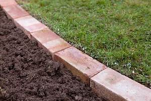 How, To, Edge, A, Lawn, With, Bricks