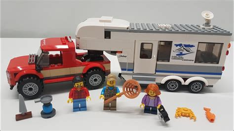 Lego City Pickup Truck & Caravan Camper Build & Review