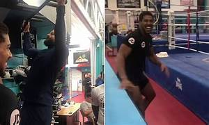 Anthony Joshua loses £10k after challenging pal to perform ...