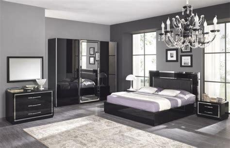 chambre gris noir moderne chambre à coucher complète archzine fr