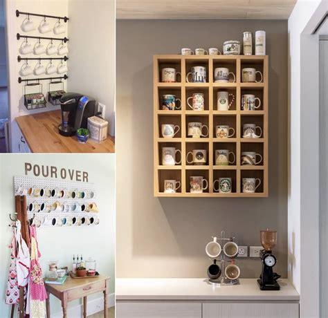 cool  creative mug storage ideas   kitchen