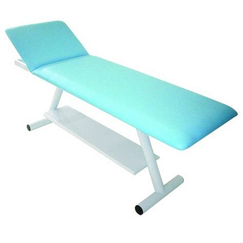 two light adjustable table l 3b scientific light blue steel two section treatment table
