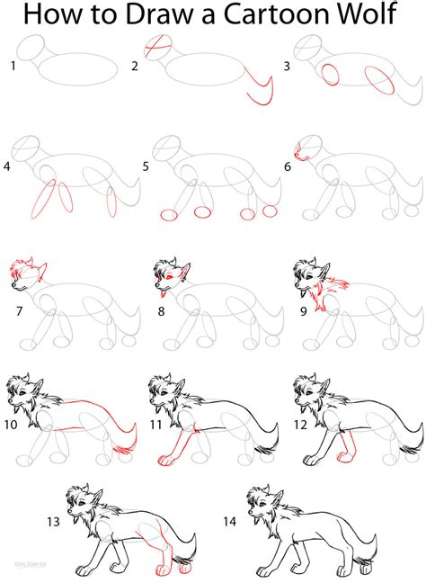 draw  cartoon wolf anime step  step pictures