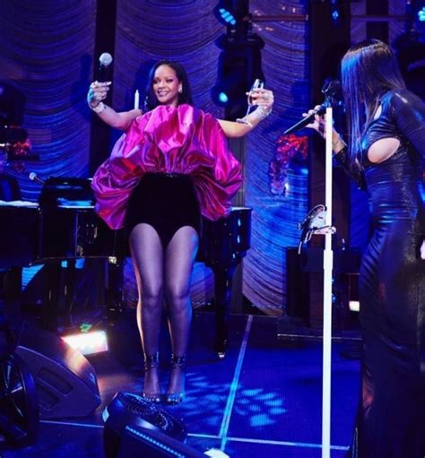 Rihanna Celebrates Her 30th Birthday In Saint Laurent