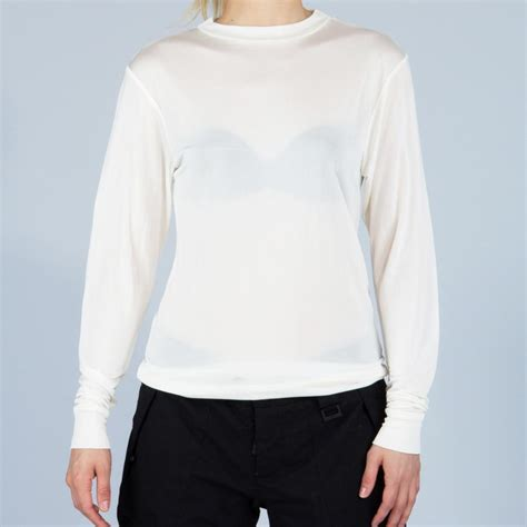 Silking 100% Pure Silk Long Sleeve Thermal Base Layer Top ...