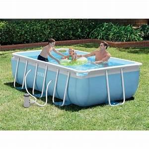 Piscine Pas Cher Tubulaire : belle piscine rectangulaire acier pas cher ~ Dailycaller-alerts.com Idées de Décoration