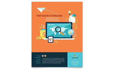 Ad Agency Brochure Design by Advertising Company Tri Fold Brochure Template Design
